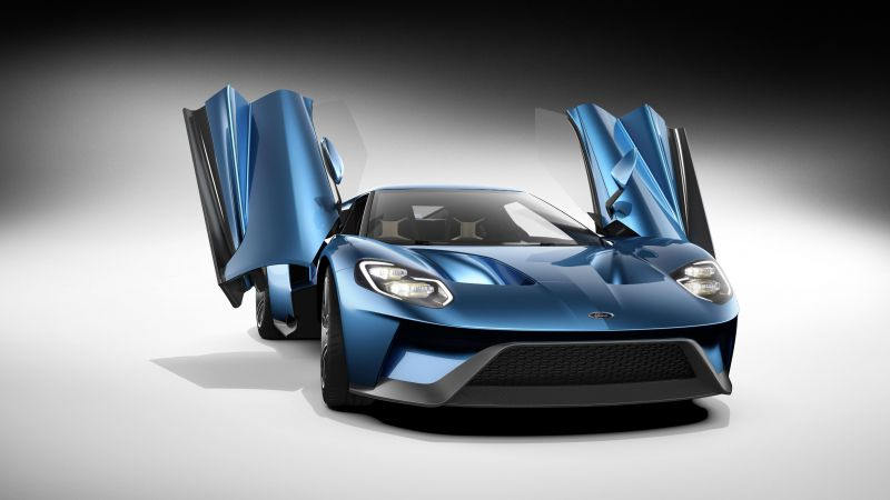 CES 2016, Ford GT, EcoBoost, 600hp (horizontal)