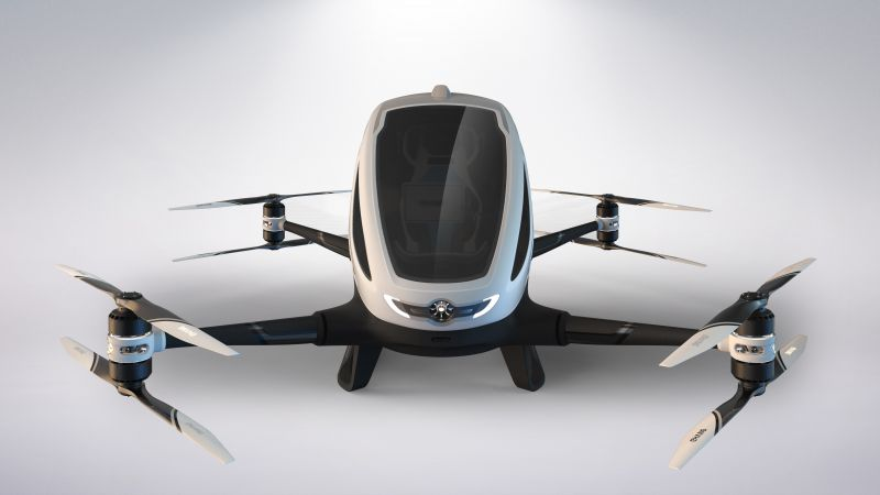 CES 2016, EHang 184, flying machine, Drone (horizontal)