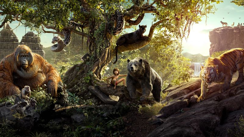 The Jungle Book, Best Movies, Mowgli, Bagheera (horizontal)