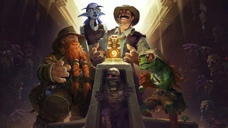 HearthStone — League of Explorers, Best games, fantasy, game, PC, Apple, Android