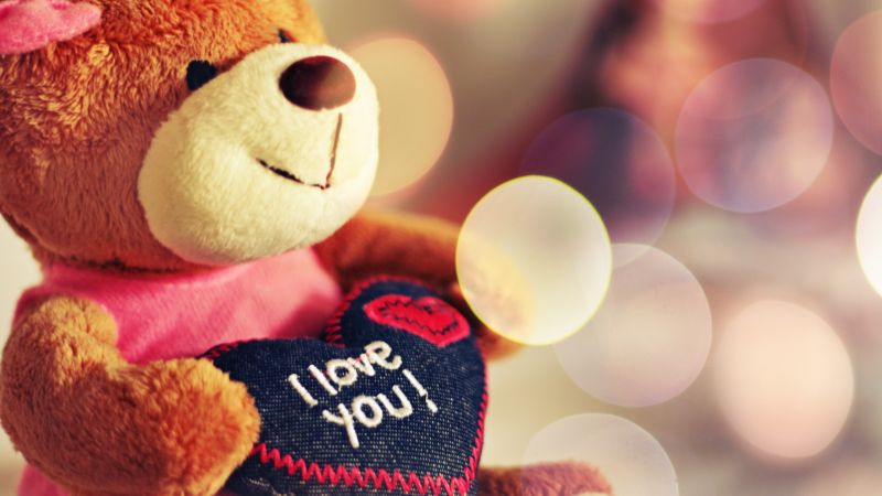 Valentine's Day, Bear, toys, love