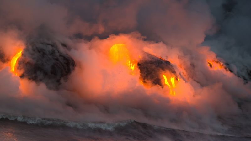 Hawaii, 5k, 4k wallpaper, 8k, eruption, volcano, travel, tourism, lava, National Geographic Traveler Photo Contest (horizontal)