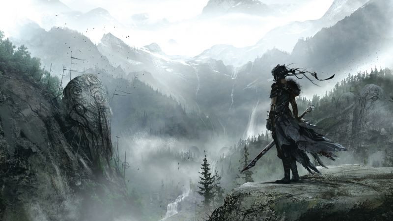 Hellblade, Best games, fantasy, PC, PS4, game (horizontal)