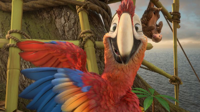 Robinson Crusoe, parrot, Best Animation Movies, cartoon (horizontal)