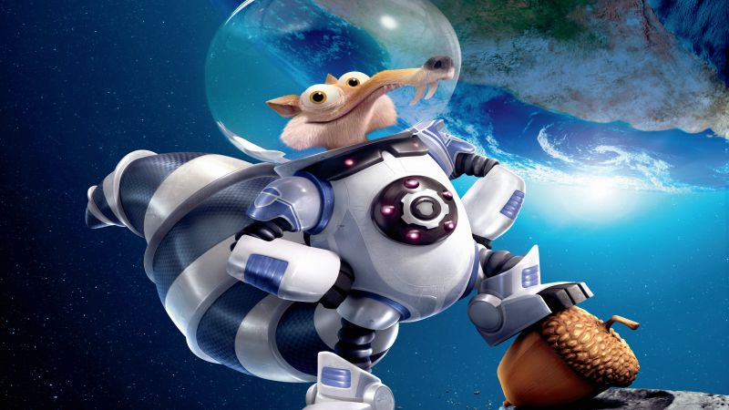 Ice Age 5: Collision Course, squirrel, best animations of 2016, space