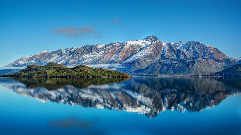 New Zealand, Mountain, Lake, sea, water, sky, reflection, landscape