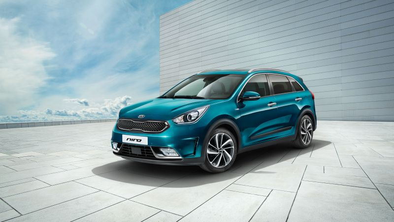 Kia Niro Worldwide, Geneva Auto Show 2016, hybrid, electric cars, crossover, blue