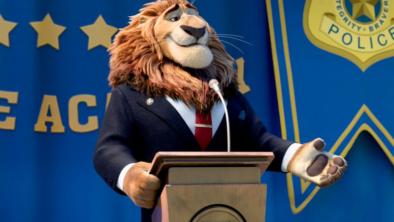 Zootopia, Mayor Lionheart, Lion, Best Animation Movies of 2016, cartoon