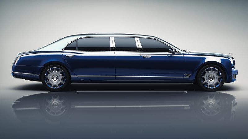 Bentley Mulsanne Grand Limousine, Geneva Auto Show 2016, luxury cars, blue