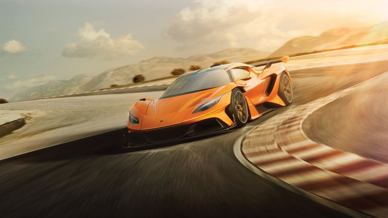Apollo Arrow, Geneva Auto Show 2016, supercar, hypercar, speed, orange