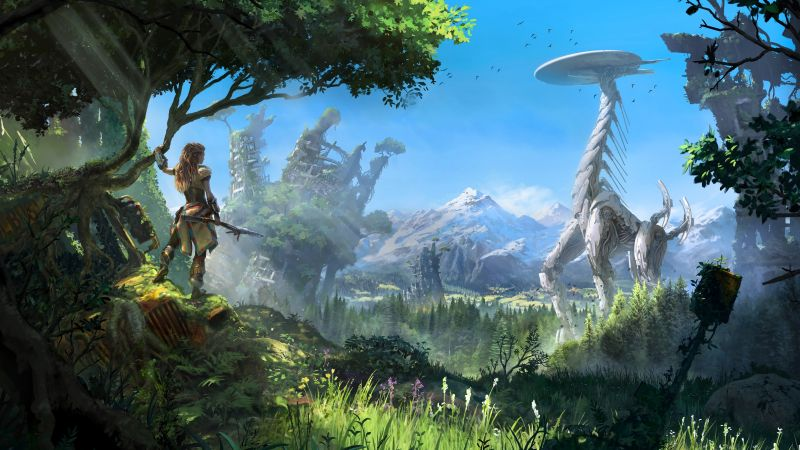 Horizon Zero Dawn, action role-playing, PlayStation 4, Xbox One, Windows, Best Games