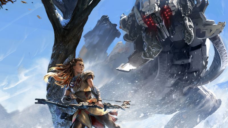 Horizon Zero Dawn, action role-playing, PlayStation 4, Xbox One, Windows, Best Games (horizontal)