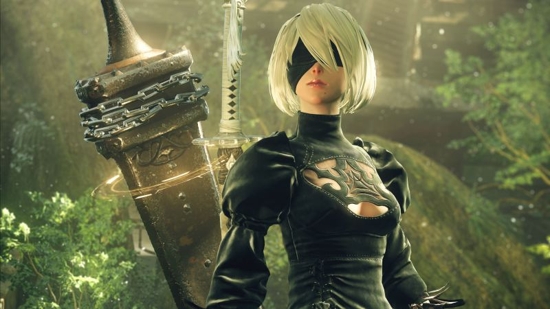 Nier: Automata, Best Games, sci-fi, PS4 (horizontal)
