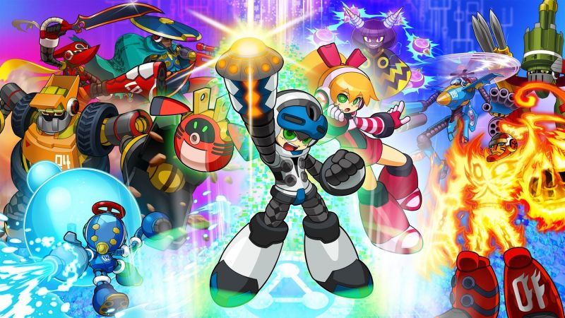 Mighty No. 9, platform, Mega Man, PC, PS4, Xbox One (horizontal)