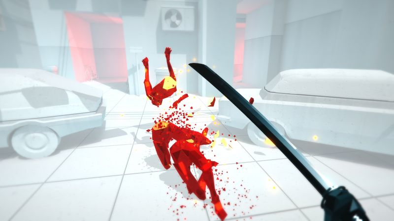 Superhot, VR, Oculus Touch, PS VR, PS4 (horizontal)