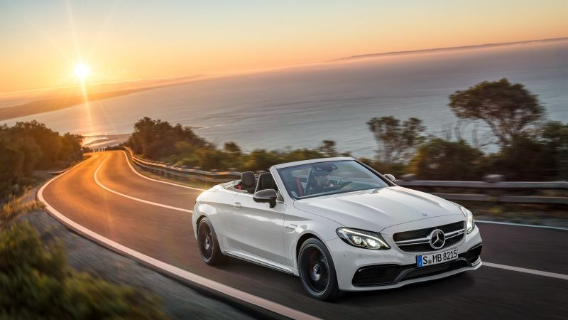 Mercedes Amg C 63 S, cabriolet, NYIAS 2016, white