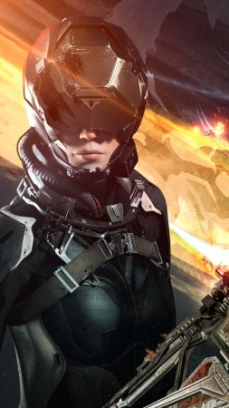 EVE: Valkyrie, PS4, PS VR, Oculus Rift (vertical)