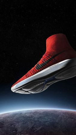 Nike, sneakers, space (vertical)