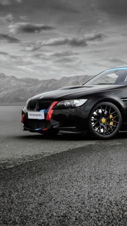 BMW M3, MR Car Design, Sedan, (E90), black