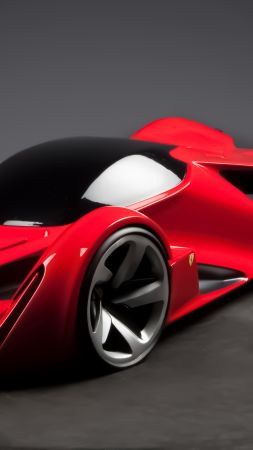 Ferrari Intervallo, supercar, Ferrari World Design Contest 2016, FWDC, red