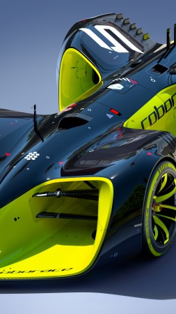 Roborace, future cars, Hybrid, Formula E season, electric cars, Daniel Simon (vertical)