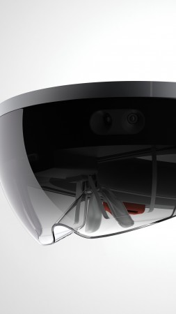 Microsoft HoloLens, A.R. headset, Windows 10, virtual reality (vertical)