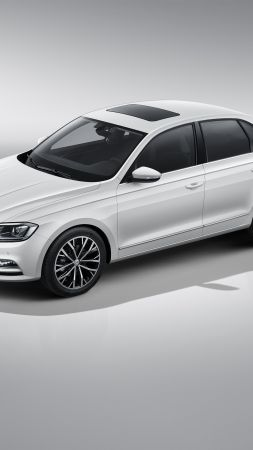 Volkswagen Bora, sedan, white (vertical)
