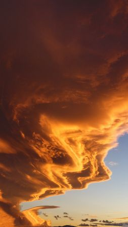 cloud, 4k, HD wallpaper, sky, sunset (vertical)