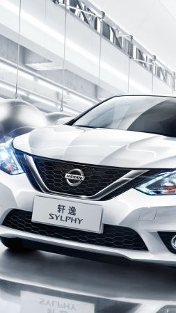 Nissan Sylphy, sedan, white (vertical)