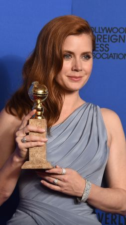 Amy Adams, Amy Lou Adams, Actress, enchanted, red hair, white, dress, princess (vertical)