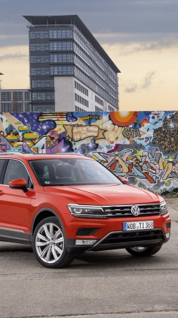 Volkswagen Tiguan, crossover, orange, grey (vertical)