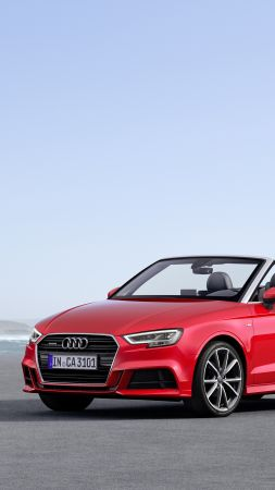 Audi A3, cabriolet, red (vertical)