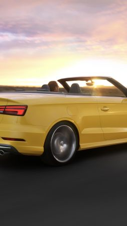 Audi S3, cabriolet, yellow (vertical)