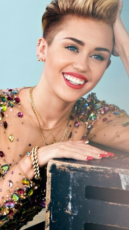 MILEY CYRUS, smile, Most popular celebs (vertical)