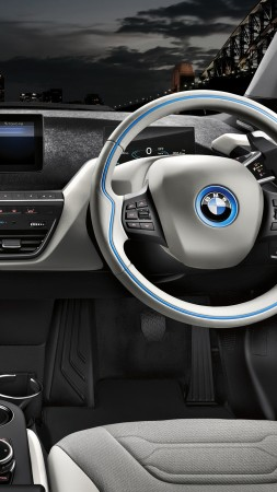 "BMW i3 ""Carbonight"", electric cars, city cars, interior (vertical)"