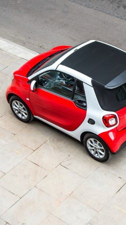 Smart fortwo passion cabrio, cabriolet, red