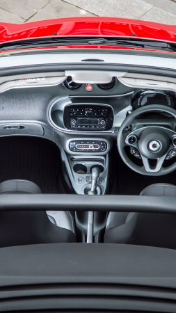 Smart fortwo passion cabrio, cabriolet, interior (vertical)