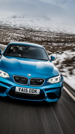 BMW M2, blue, coupe (vertical)