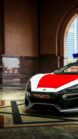 Lykan hypersport, police car, police (vertical)