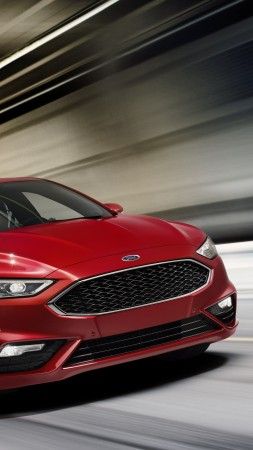 Ford Fusion V6 Sport, sedan, red (vertical)