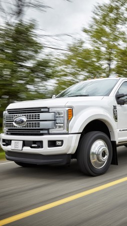 ford f450, super duty platinum, crew, cab, white (vertical)