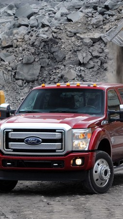 ford f450, super duty platinum, crew, cab, red (vertical)