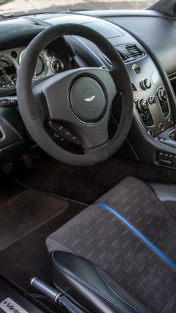 Aston Martin V8 Vantage GTS, racing cars, interior (vertical)
