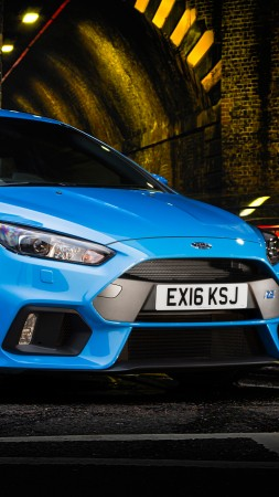 Ford Focus RS, hatchback, blue (vertical)