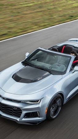 Chevrolet Camaro ZL1 convertible, NYIAS 2016, grey (vertical)