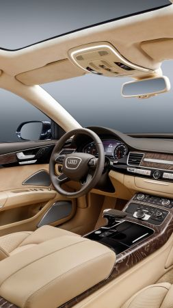 Audi A8 L Extende, luxury cars, interior (vertical)