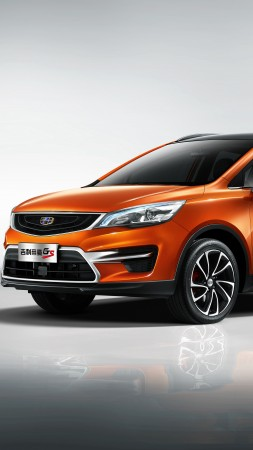 Geely Emgrand GS Sport, Beijing Motor Show 2016, crossover, orange (vertical)