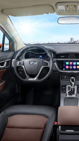 Geely Emgrand GS Sport, Beijing Motor Show 2016, crossover, interior (vertical)
