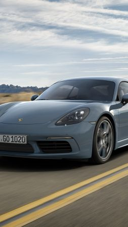 Porsche 718 Cayman, Beijing Motor Show 2016, Auto China 2016, coupe, grey (vertical)