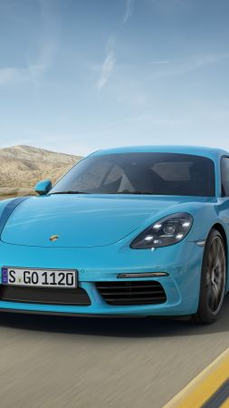 Porsche 718 Cayman S, Beijing Motor Show 2016, Auto China 2016, coupe, blue (vertical)